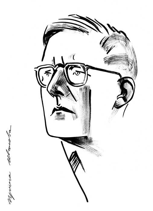Dmitri Shostakovich by Avika
